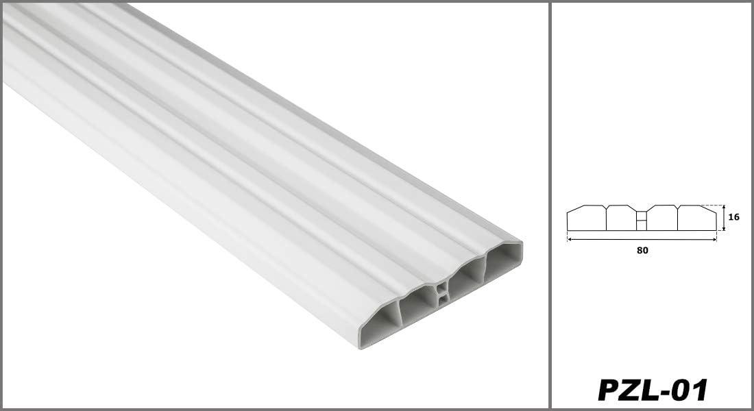 Hexim Zaunlatten Sparpaket PZL-01 pflegeleicht 50 Meter 80 x 16 mm Balkonbretter widerstandsf/ähiges Hart-PVC Kunststoffzaun wei/ß modern
