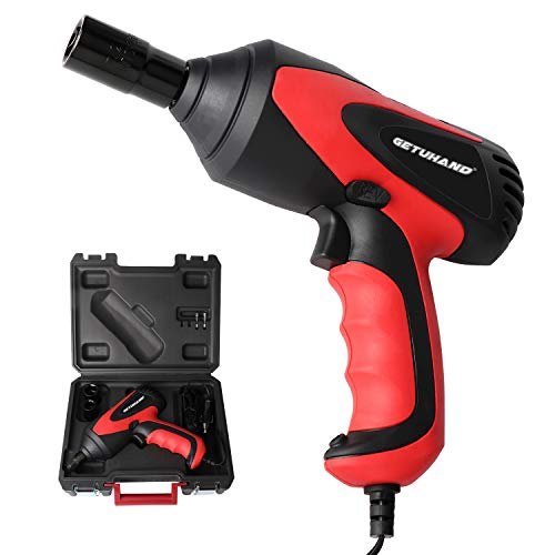 GETUHAND Car Impact Wrench 1/2 Inch & 12 Volt Portable Electric Impact Wrench Kit, Tire Repair Tools with Sockets and Carry - Power Wrench Electric