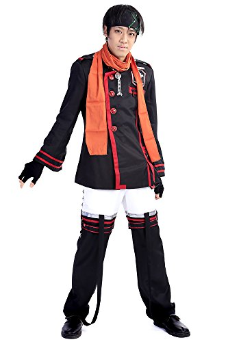 [ICEMPs D.Gray-Man Cosplay Costume Baka Usagi Lavi Exorcist Uniform Outfit Set V3] (Lavi D Gray Man Cosplay Costume)