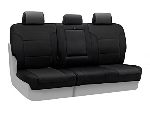 Coverking Custom Fit Center 60/40 Bench Seat Cover for Select Toyota RAV4 Models - Neosupreme Solid (Black) (Toyota Rav 4 2014 Seat Covers compare prices)