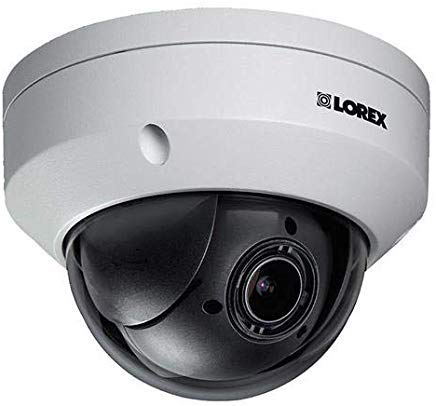 Lorex LNZ44P4B Super High Definition 4MP Indoor/Outdoor Day & Night PTZ Network Dome Camera with Color Night Vision, 4X Optical Zoom, Vandal Resistant, ()
