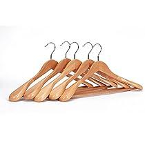 J.S. Hanger Perchas de madera para trajes (5 unidades)