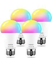 Smart Light Bulb, YUNSYE 9W Wi-Fi LED Smart Bulb, Works with Alexa, Echo, Google Home and Siri, Soft White (2700K), 60W Equivalent, 810 LM, RGB+W, ETL Listed (2pcs)
