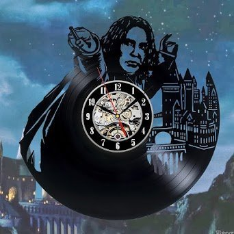 Snape Wand Vinyl Record Wall Clock - Decorate your home with Modern Art - Gift for men and women, girls and boys - Win a prize for a - Own Potter Your Make Harry Robe