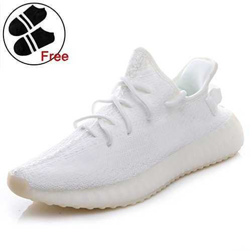 Fashion Lightweight Sneakers Unisex Athletic Shoes For Couple Men Women with Free Black Socks