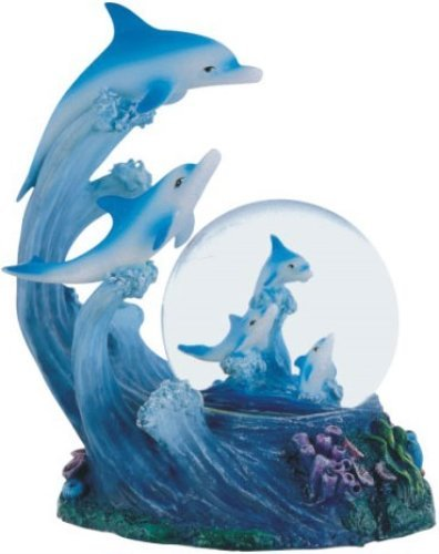 Beautiful Jumping Dolphins Snow Globe