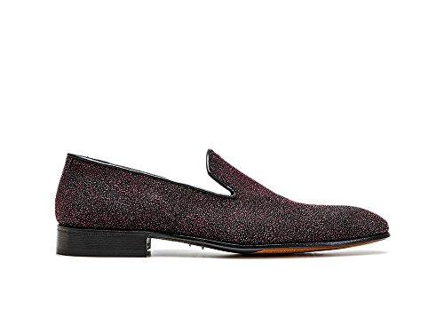 in Italy scivola in Pattern Stardust personalizzate Casanova scarpe Fuxia tue uomo sulle Say da di 100 pelle lusso Made qwUI8xqC
