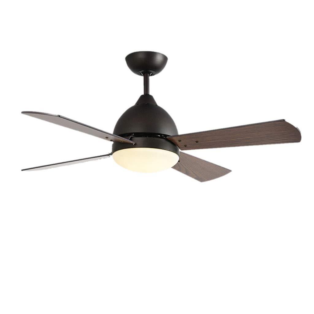 シーリングファンライト シャンデリアレストランリビングルームファンシャンデリアレトロ電動ファンライトホームウッドリーフ天井ファンライト (Color : Brown, Size : 107*39cm) B07Q6RS88W Brown 107*39cm