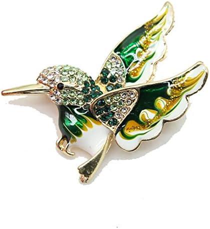 [해외]PINKING 브 로치 크리스탈 멜 새 쥬얼리 액세서리 브 로치 핀 숙 녀 어머니의 날 발렌타인 선물 녹색 / PINKING Brooch Crystal Enamel Bird Jewelry Accessories Broochpin Ladies Mother`s Day Valentine`s Day Gift Green