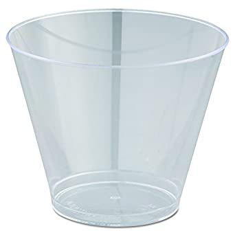 c0aa39e7589 Amazon.com: WNA T9S Comet Smooth Wall Tumblers, 9oz, Clear, Squat, 25 Per  Pack (Case of 20): Industrial & Scientific