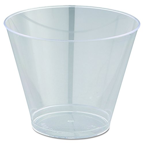 WNA T9S Comet Smooth Wall Tumblers, 9oz, Clear, Squat, 25 Per Pack (Case of 20)