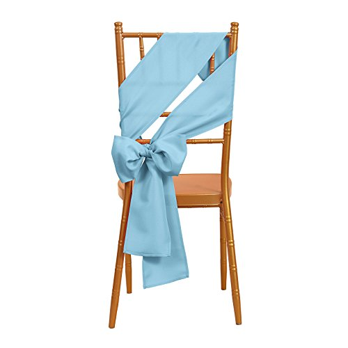 VEEYOO 10 Pieces 6x108 100% Polyester Chair Sash Bows Ribbon Cover for Restaurant Kitchen Dining Wedding Party Banquet Events, Baby - Chair Party Sash