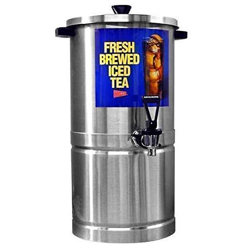 Cecilware SU3P Stainless Steel 3 Gallon Iced Tea Dispenser Round Base