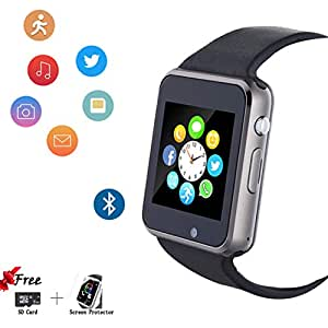 Smartwatch, Smart Watch with SIM Card Slot Text Call Reminder Camera Music Player Pedometer Compatible with Android Samsung Phones and iPhone(Partial ...