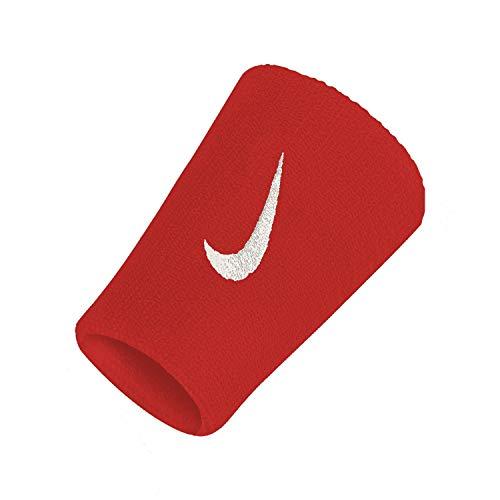 Nike Dri-fit Doblewide Wristband (Red/White)