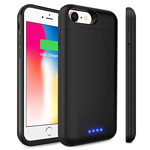 Battery Case for iPhone 6S/6 [ Upgraded ] 6000mAh Portable Charging case for iPhone 6 6s (4.7 inch) Extended Battery Pack Charger case Power Bank -Black