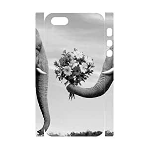 3D Bumper Plastic Customized Case Of Elephant for iPhone 5,5S