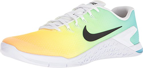 NIKE Men's Metcon 4 Training Shoes (14, White/Multi)