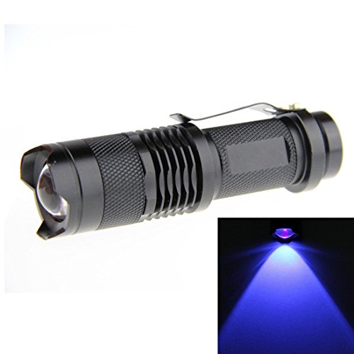 JOYLIT Blue Light 365nm LED Flashlight Mini Focus Tactical Waterproof 3 Modes LED Torch
