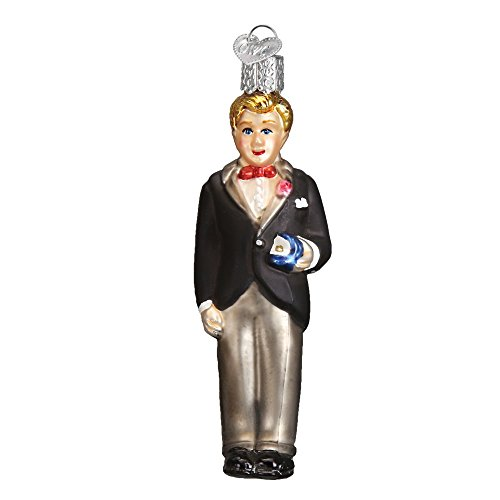 Old World Christmas Glass Blown Ornament Groom - - Groom Blonde
