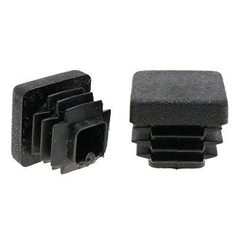 25 pezzi 18 mm x 18 mm piedini per mobili piedi sedia, sedia quadrato inserti, tubolare – inserti per sedie