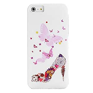 Mini - IMD Technique the Girl with Wings and Butterfly Plastic Case for iPhone 5/5S