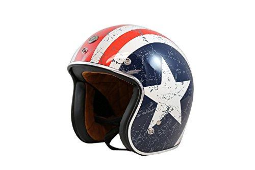Captain America Motorcycle Helmet - 4