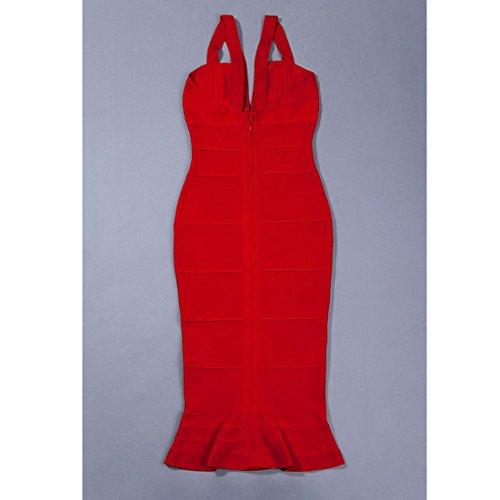 Kleid rot Rot Damen rot 36 HLBCBG vqzBwx