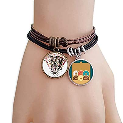 Graffiti Street Heart Art Illustration Pattern Bracelet Rope Doughnut Wristband Estimated Price £9.99 -