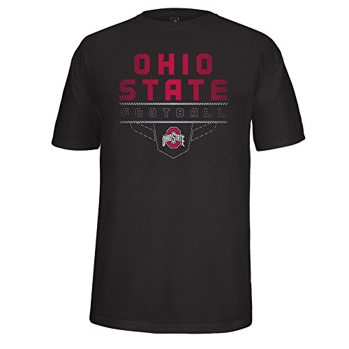Football America Adult Football (J America Adult Unisex OSU Football Steel Plate Tee Ohio St, Small, Black)