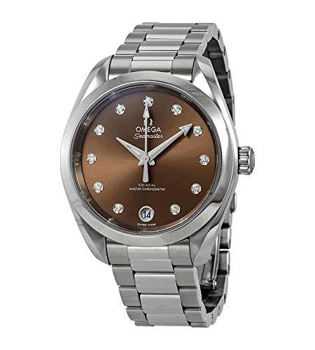 Omega-Seamaster-Aqua-Terra-Automatic-Diamond-Brown-Dial-Ladies-Watch-22010342063001