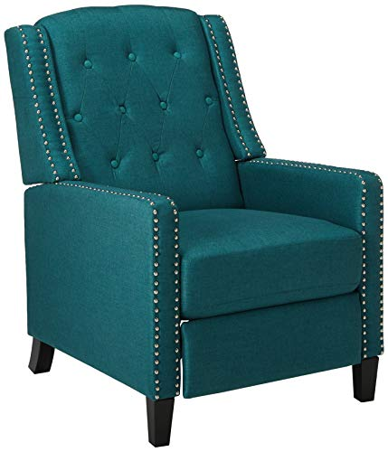 Christopher Knight Home Izaak Recliner Chair, Dark Teal (Accent Teal Pieces)