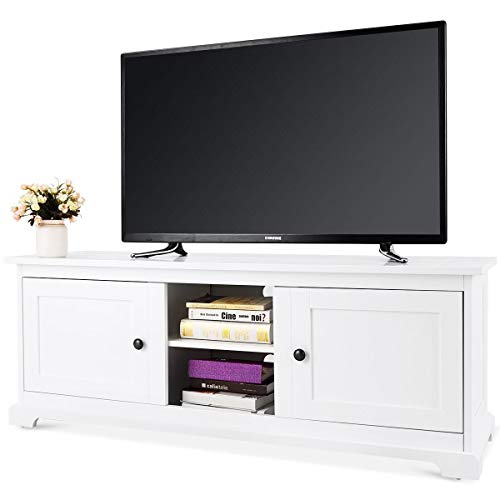 Merveilleux WATERJOY Modern TV Cabinet Stand, Media Unit Storage TV Stand W/Drawers And  Shelves