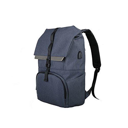 MUMA Daypacks Rucksack Computer Tasche Reisetasche Sport & Freizeit Taschen ( Farbe : Dunkelgrau ) Dunkelblau