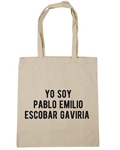 HippoWarehouse Yo Soy Pablo Emilio Escobar Gaviria Tote Compras Bolsa de playa 42cm x38cm, 10litros Natural