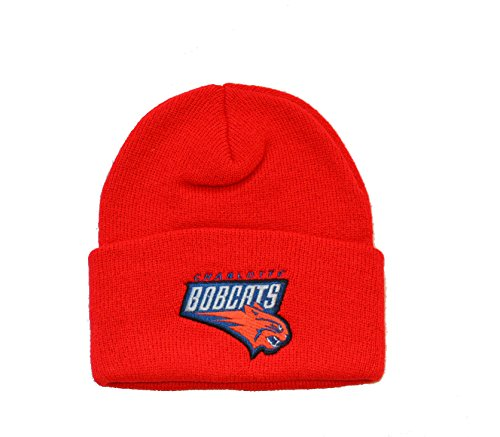 Charlotte Bobcats Red Cuff Beanie Hat - NBA Hornets Cuffed Knit Toque Cap