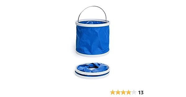 Cubo plegable 5L 10L cubo plegable lavado de autos port/átil pesca ba/ño cocina silicona viaje cubo exterior camping suministros hogar cubo-10L gris