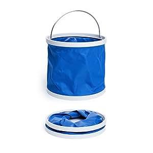 Balde plegable | Cubo agua limpieza coche | Cubo portátil forma de cilindro | Camping Lavado Car | Barril plegable portátil