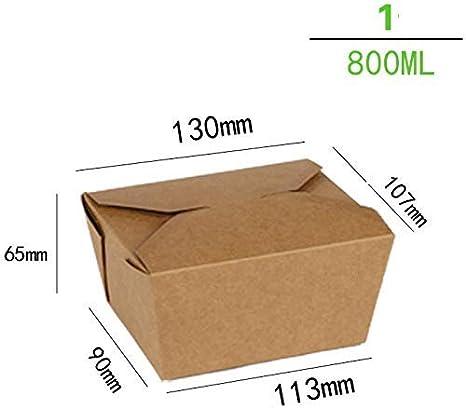 WJMSS Ensaladera Rectangular desechable de Papel Kraft - Caja de Almuerzo de Gran Capacidad Caja de Filete de Sushi [200 Paquetes] (Color: XL): Amazon.es: Deportes y aire libre