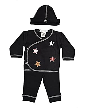 Baby Boy 3 Piece Take Me Home - Scattered Sports Stars/Soccer on Hat