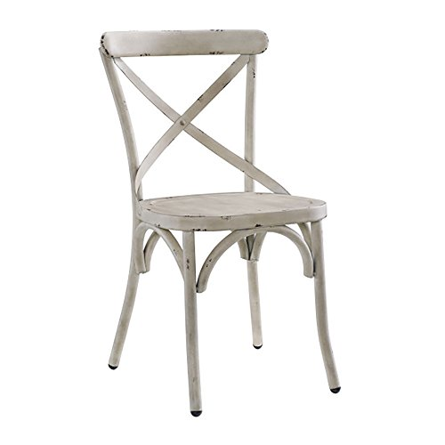 Pulaski Dining Chair in Distressed Antique White Finish by Pulaski