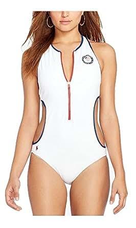 Polo Ralph Lauren Women's Team USA Zip-Front Monokini One