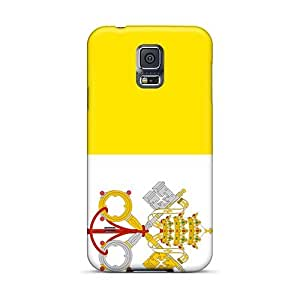 Protective Hard Phone Covers For Samsung Galaxy S5 With Customized Vivid Vatican Flag Image IanJoeyPatricia