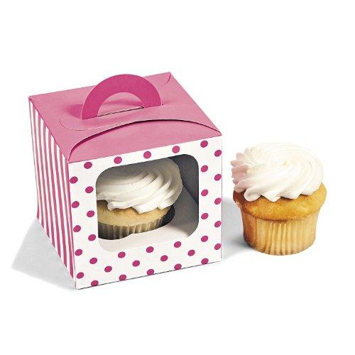 Candy Pink Polka Cupcake Boxes