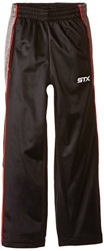 - STX Boys' Tricot Pull On Sport Pant, TF15-Black/Engine Red, 5/6