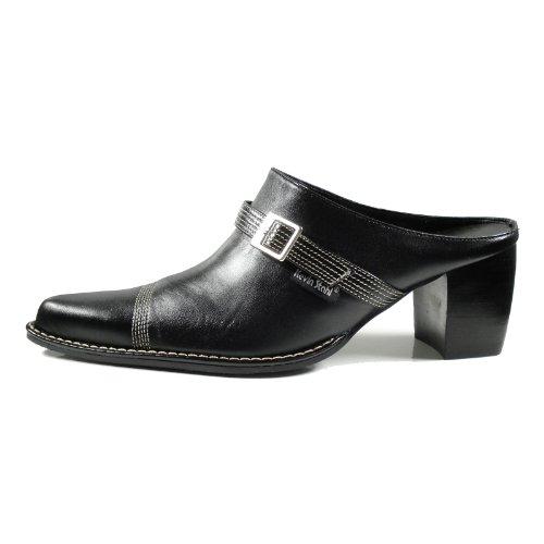 Clog Schwarz Premium Kevin Qualität Schwarz Damen 31486 Stahl Western Schuhe 101 wvvqaSg8