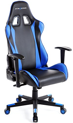 GTRACING Ergonomic Office Chair Racing Chair Backrest Seat Height Adjustment Computer Chair Pillows Recliner Swivel Rocker Tilt E-sports Chair