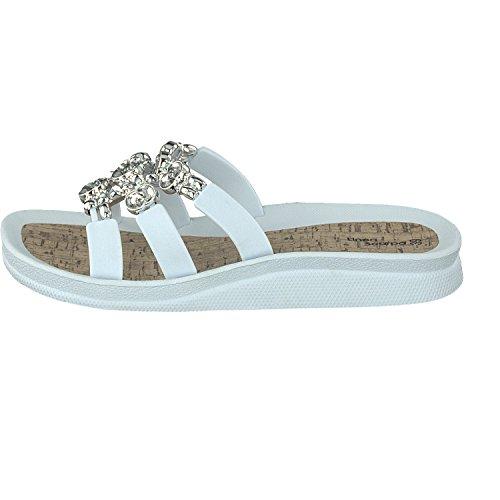 Linea Scarpa Pantolette Santos Badeschuh Damen Weiß