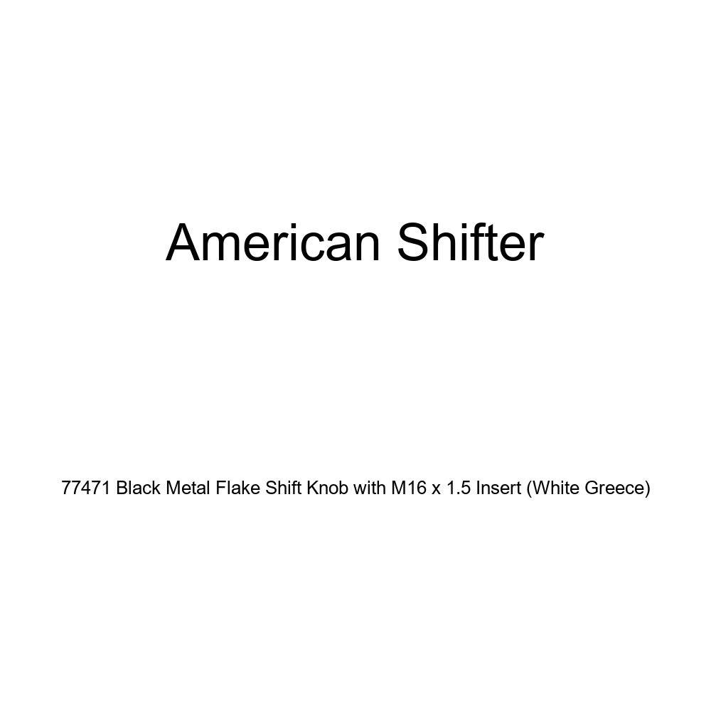 White Greece American Shifter 77471 Black Metal Flake Shift Knob with M16 x 1.5 Insert