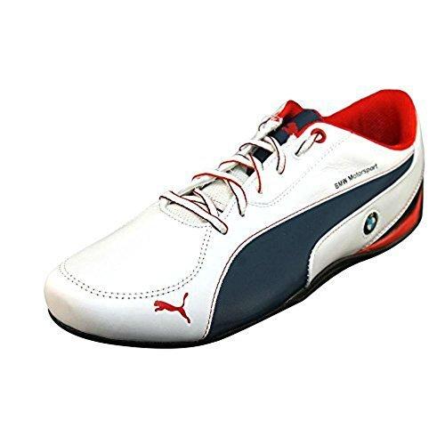 PUMA Drift Cat 5 BMW L Men's Sneakers Size 10.5 White/Blue/Ribbon Red Style # 304632 01